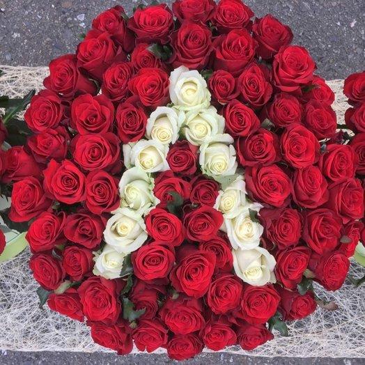 Коробка с индивидуальной буквой имени: букеты цветов на заказ Flowwow