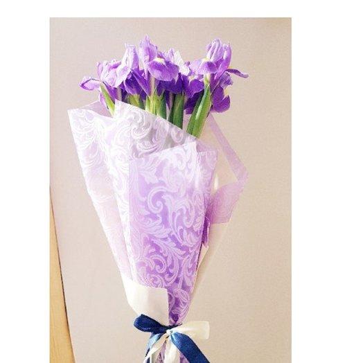 Ирисы в дизайн фетре от Floristic World.: букеты цветов на заказ Flowwow