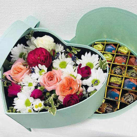 Сердечко счастья!: букеты цветов на заказ Flowwow