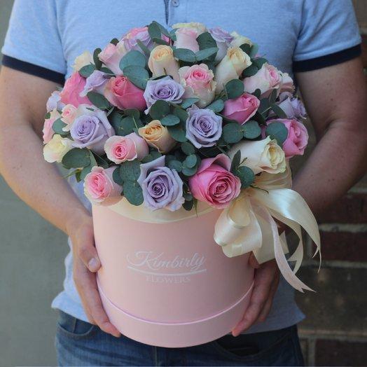 39 роз в коробке: букеты цветов на заказ Flowwow