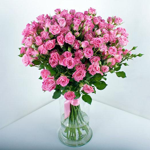 Букет из 19-ти кустовых роз: букеты цветов на заказ Flowwow