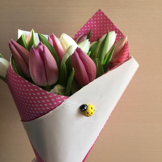 Кулек из 11 тюльпанов