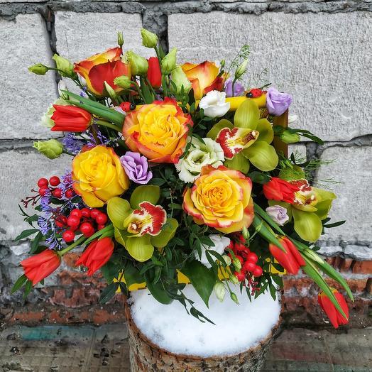 "Композиция ""Хэппи"": букеты цветов на заказ Flowwow"