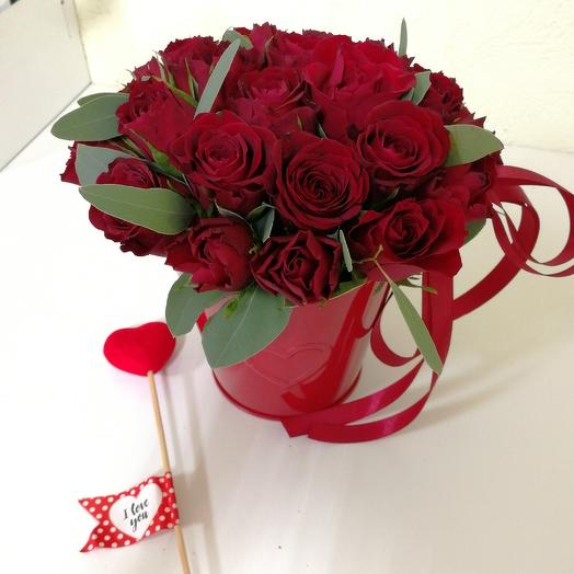 Люблю сердечно: букеты цветов на заказ Flowwow