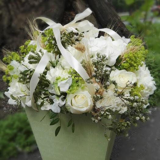 Подарочный букет на свадьбу: букеты цветов на заказ Flowwow