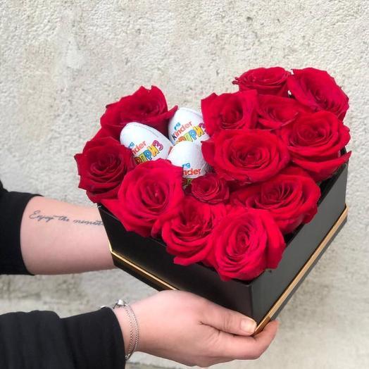 Коробка счастья😍: букеты цветов на заказ Flowwow
