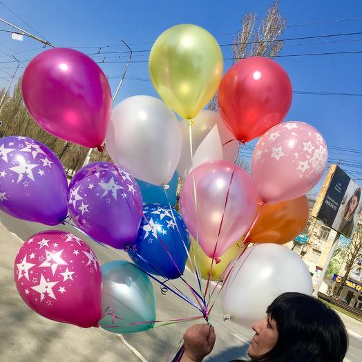 Разноцветные шары 15 шт: букеты цветов на заказ Flowwow