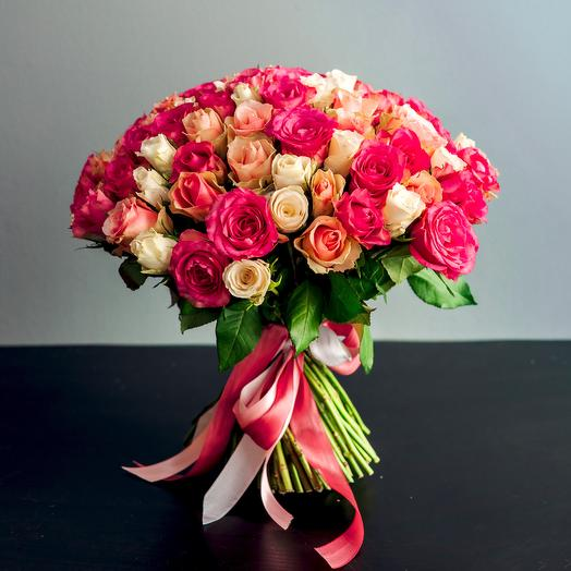 Букет 55 кенийских роз: букеты цветов на заказ Flowwow