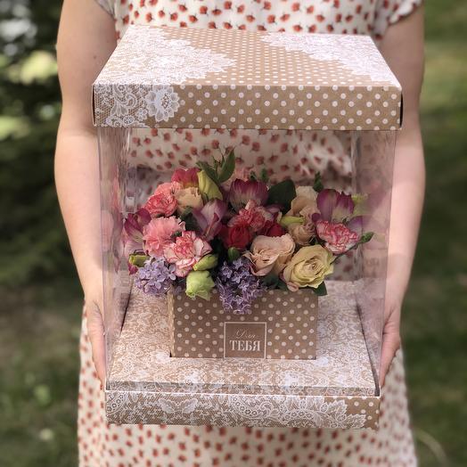 Бокс «Для Тебя»: букеты цветов на заказ Flowwow