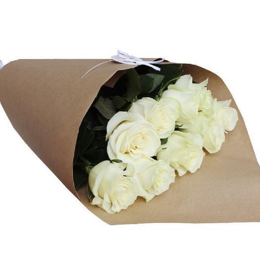 "Букет""Белые розы"": букеты цветов на заказ Flowwow"