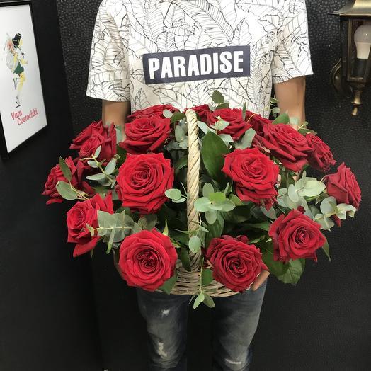 Корзина РедS: букеты цветов на заказ Flowwow