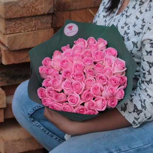 Букет 51 розовая роза: букеты цветов на заказ Flowwow