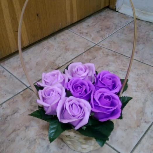 Для любимой.Роза из мыла: букеты цветов на заказ Flowwow