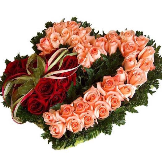 """Композиция из роз """"Вместе навсегда"""": букеты цветов на заказ Flowwow"""