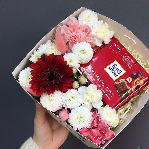 Сладкий бон: букеты цветов на заказ Flowwow