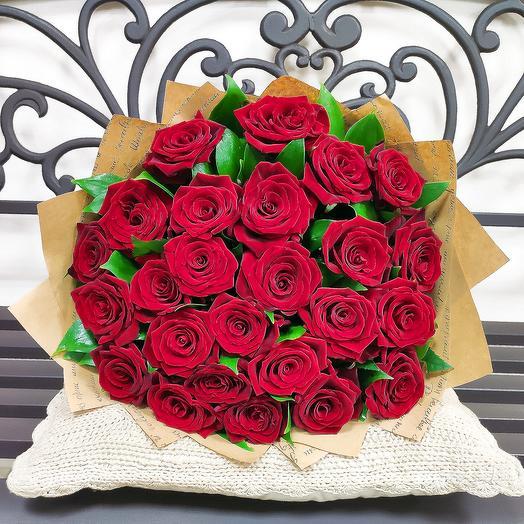 Букет Приятное воспоминание 25 роз: букеты цветов на заказ Flowwow