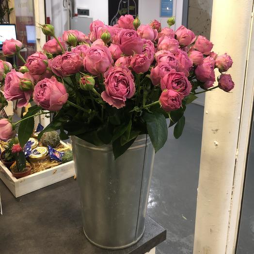 Мисс Бомбастик в ведре: букеты цветов на заказ Flowwow