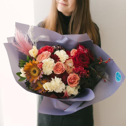 Брусничная любовь: букеты цветов на заказ Flowwow
