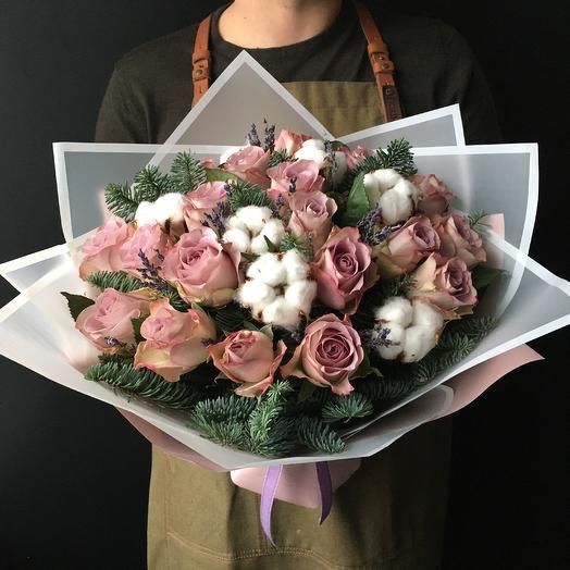 Букет с зимним настроением: букеты цветов на заказ Flowwow