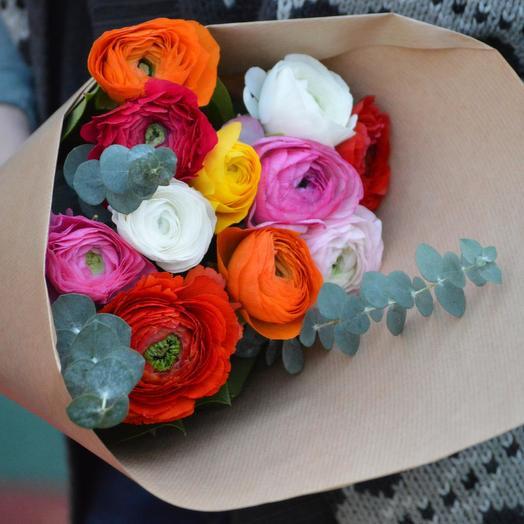"""Букет цветов """"Разноцветные Ранункулюсы"""": букеты цветов на заказ Flowwow"""