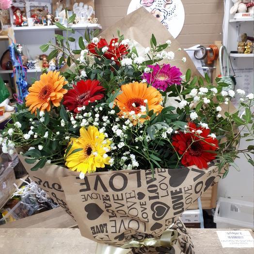 Радужные герберы🌸: букеты цветов на заказ Flowwow