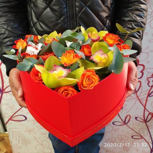 Серце: букеты цветов на заказ Flowwow