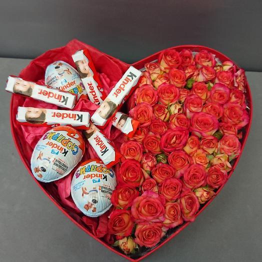 Цветы и шоколад: букеты цветов на заказ Flowwow