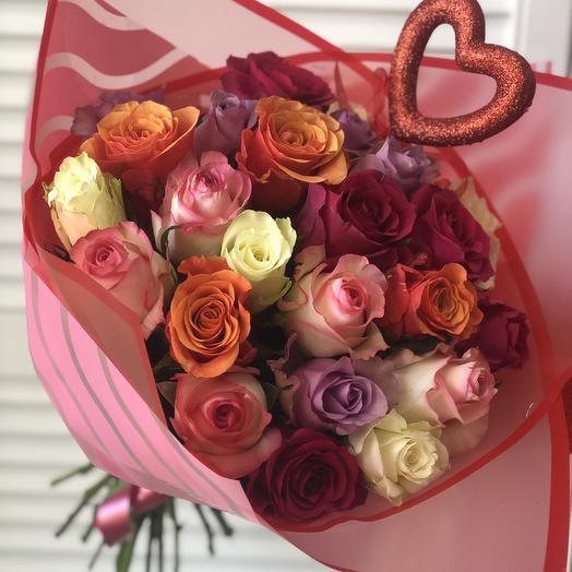 25 роз микс: букеты цветов на заказ Flowwow