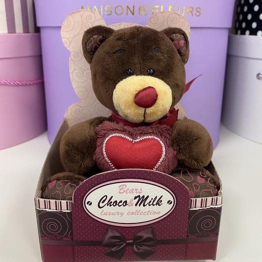 Мягкая игрушка «Медведь»: букеты цветов на заказ Flowwow
