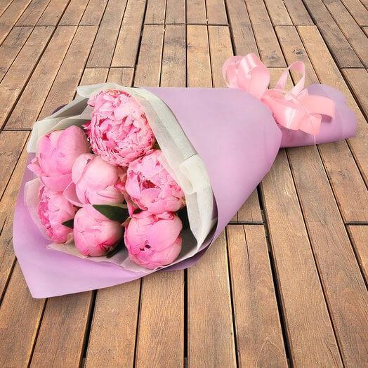 Букет пионов «Розовое Настроение»