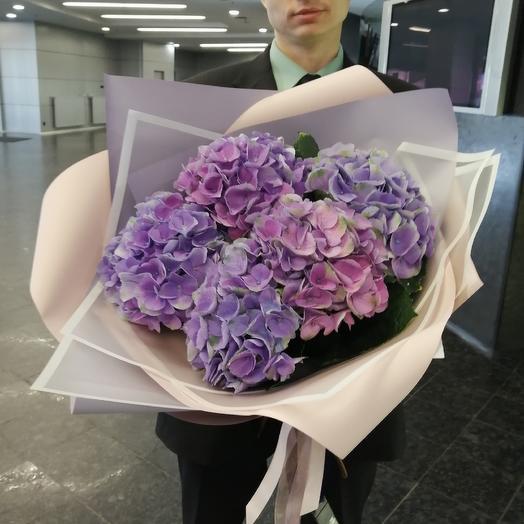 """Огромный букет из гортензий """"Лавандовый рассвет"""" 🧚♀️: букеты цветов на заказ Flowwow"""