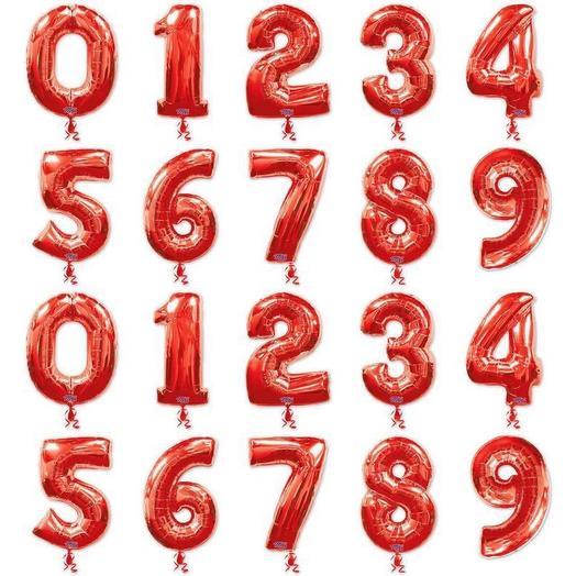 Шар-цифра «RED» в ассортименте: букеты цветов на заказ Flowwow