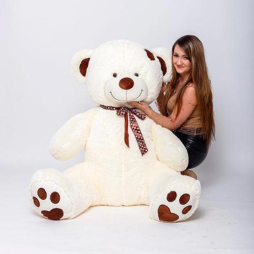 Большой Медведь Тони 180 см (молочный)