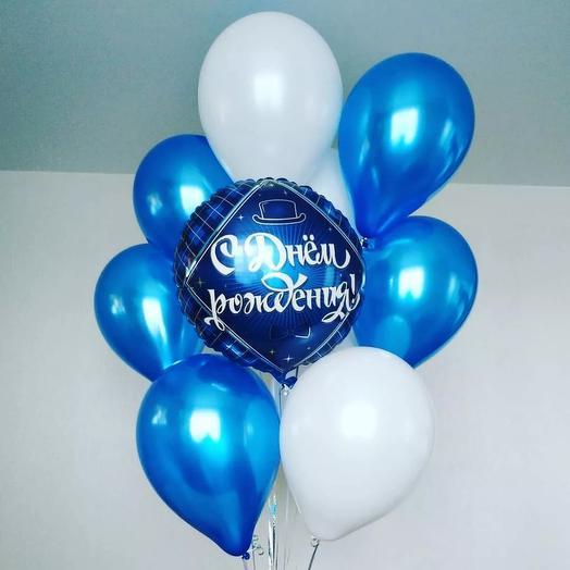 Men's set of helium balloons