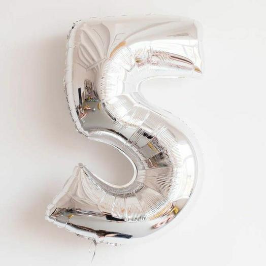 Фольгированная цифра 5