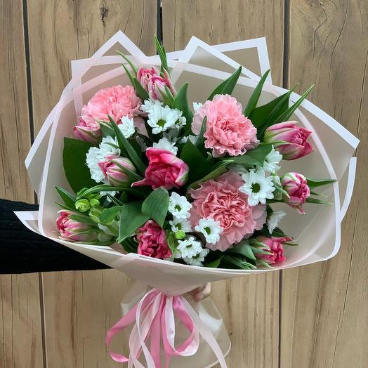 Букет с тюльпанами «Барби»