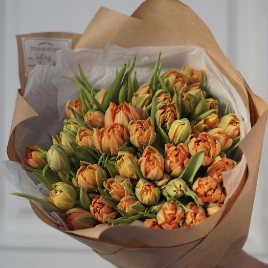 Пионовидные тюльпаны оранжевые Orange Princess (51 шт)