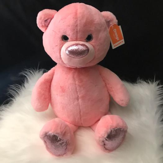 Медвежонок розовый 35см