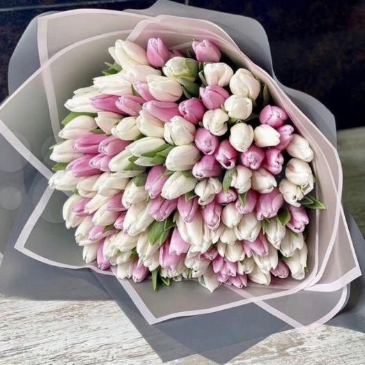Букет тюльпан 201