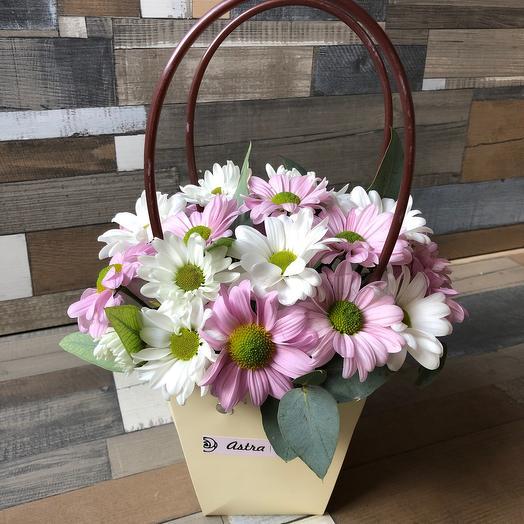 Цветочная сумочка