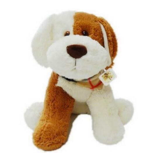 Собака Бим 50см молочно-рыжий