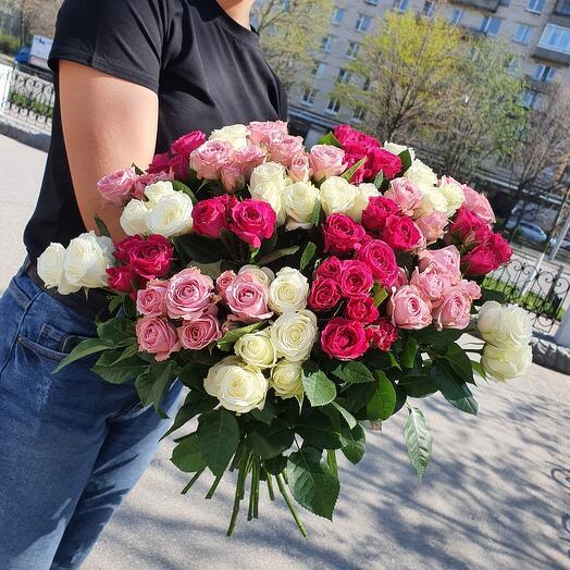 Монобукет кустовых роз