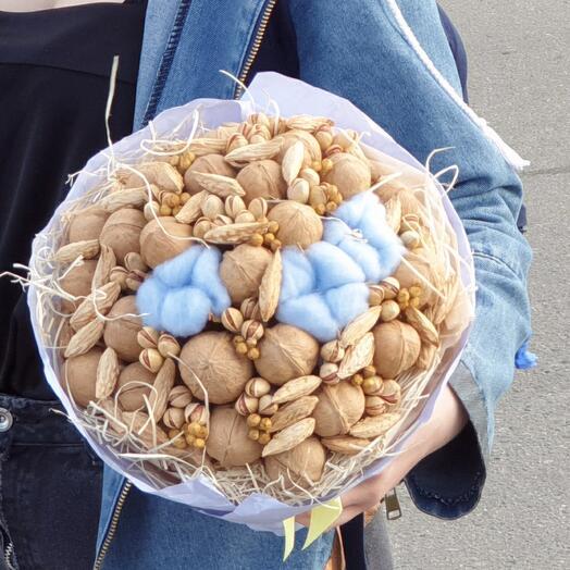 Ореховый с хлопком