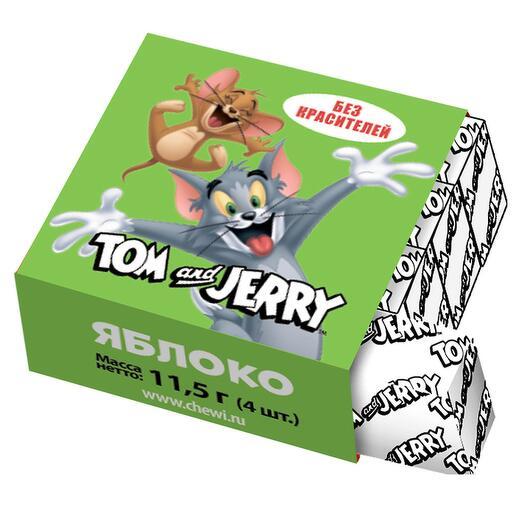 Жевательные конфеты Tom and Jerry со вкусом яблока, 11,5 г