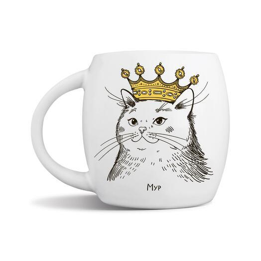 "Кружка ""Кошка в короне"" Мур"