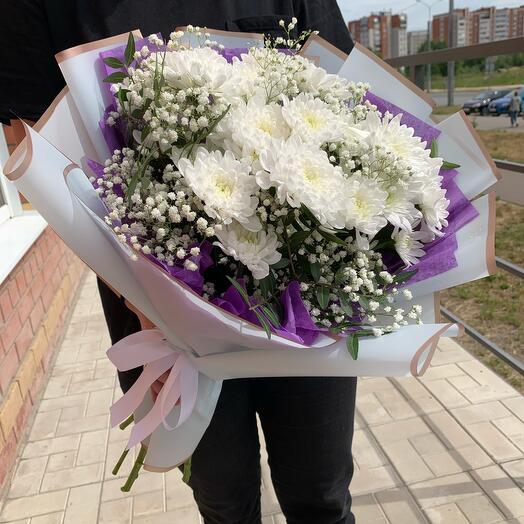 Пять хризантем