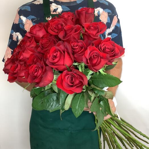 Монобукет из 31 Розы 80 см