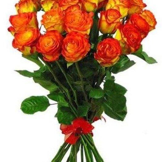 25 желтых роз: букеты цветов на заказ Flowwow