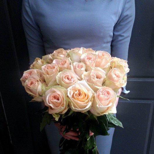Букет из 15 нежных роз: букеты цветов на заказ Flowwow