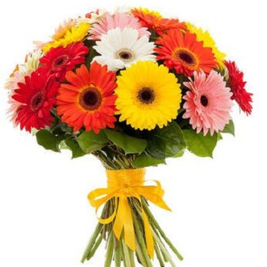 Букет из солнечных гербер: букеты цветов на заказ Flowwow